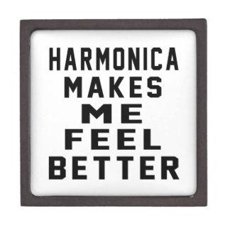 La armónica hace que siente mejor caja de regalo de calidad