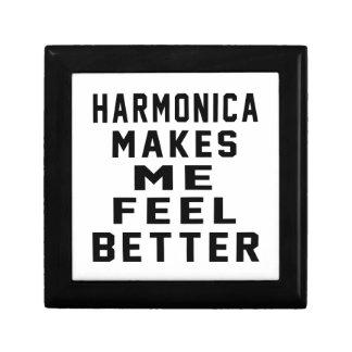 La armónica hace que siente mejor caja de recuerdo