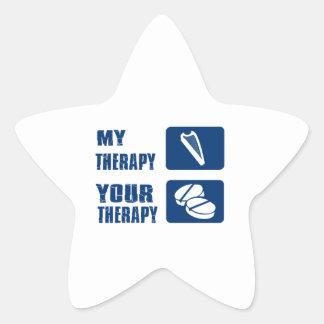 La arpa CÉLTICA es mi terapia Pegatina En Forma De Estrella