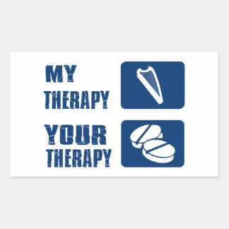 La arpa CÉLTICA es mi terapia Pegatina Rectangular