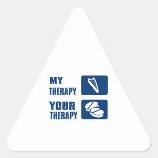 La arpa CÉLTICA es mi terapia Pegatina Triangular