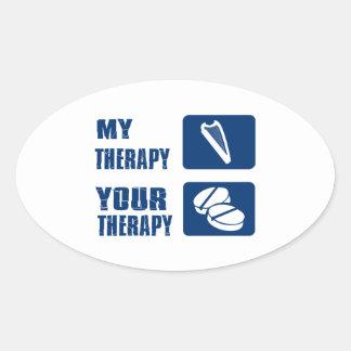 La arpa CÉLTICA es mi terapia Pegatina Ovalada