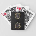¡La arpa del diablo y tarjetas de cuero negras de  Baraja Cartas De Poker