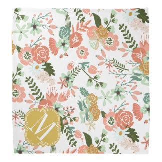 La arpillera florece floral botánico bandanas
