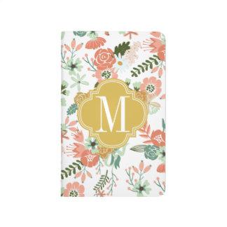 La arpillera florece floral botánico cuaderno