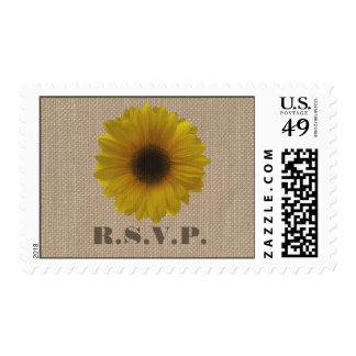La arpillera inspiró el girasol que casaba RSVP Timbre Postal