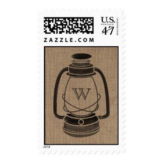 La arpillera inspiró franqueo de la linterna del timbre postal
