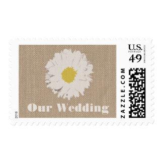 La arpillera inspiró franqueo del boda de la timbre postal