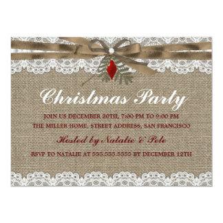 """La arpillera y la fiesta de Navidad del vintage Invitación 6.5"""" X 8.75"""""""