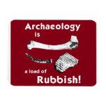 La arqueología es una carga del imán del refrigera