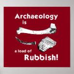 La arqueología es una carga del poster de los desp