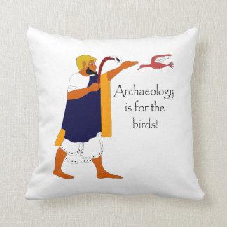 ¡La arqueología está para los pájaros! Cojines
