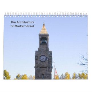 La arquitectura de la calle de mercado, Corning NY Calendario