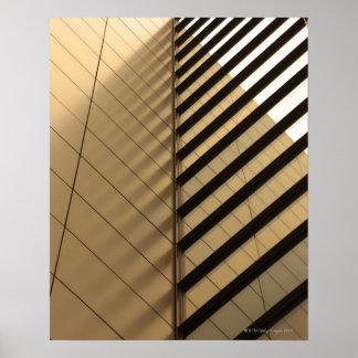 La arquitectura moderna, amarillea entonado póster