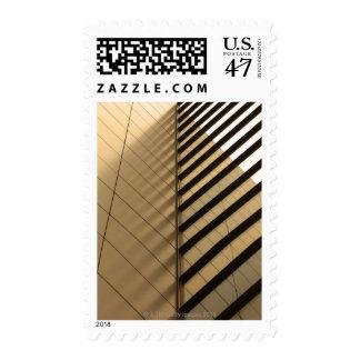 La arquitectura moderna, amarillea entonado sellos postales