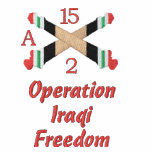 La artillería de Iraq cruzó la camisa bordada cañó
