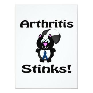 La artritis apesta diseño de la conciencia de la invitación 16,5 x 22,2 cm