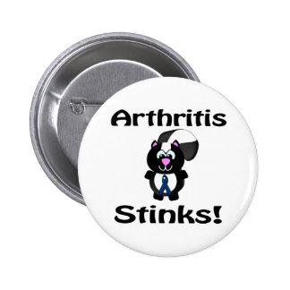La artritis apesta diseño de la conciencia de la m pin redondo de 2 pulgadas