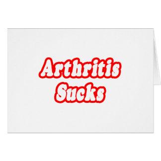 La artritis chupa tarjeta de felicitación