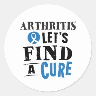 La artritis deja para encontrar a los pegatinas de pegatina redonda
