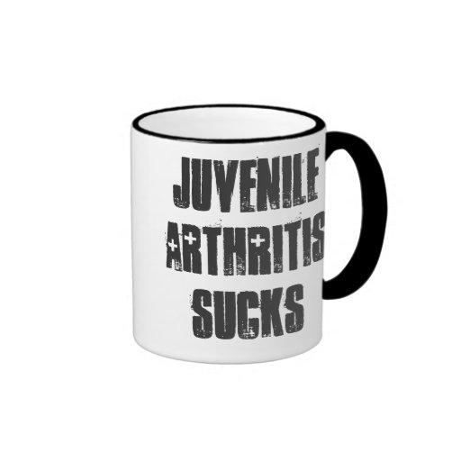 La artritis juvenil chupa taza de dos colores