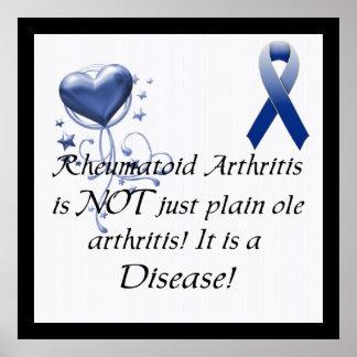 La artritis reumatoide no está apenas. Poster de l