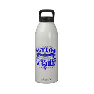 La artritis reumatoide toma lucha de la acción com botella de beber