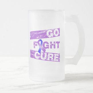 La artritis reumatoide va curación de la lucha taza cristal mate