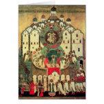 La asamblea de ángeles tarjeta de felicitación