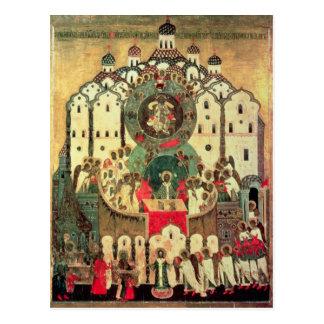 La asamblea de ángeles tarjeta postal