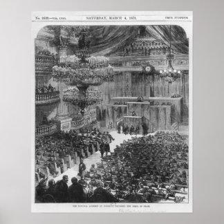 La asamblea nacional en Burdeos Póster