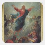 La ascensión, 1721 pegatina cuadrada