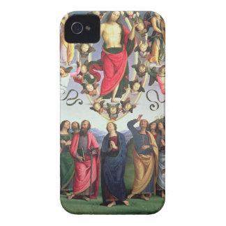 La ascensión de Cristo, 1495-98 (aceite en el pane iPhone 4 Case-Mate Coberturas