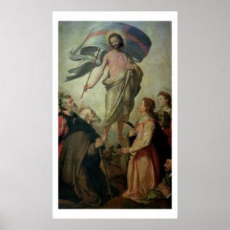 La ascensión de Cristo, 1595 (aceite en el panel) Póster