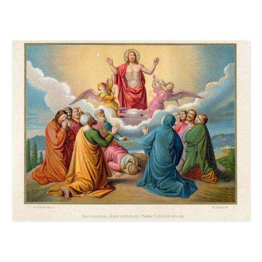 La ascensión de Jesús 1879 Tarjeta Postal
