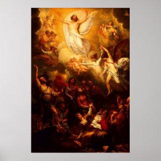 La ascensión del poster de Cristo