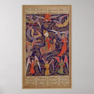 La ascensión del profeta Mohammed, persa Póster