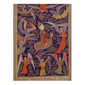 La ascensión del profeta Mohammed, persa Tarjetas Postales