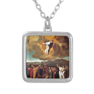 La ascensión - pintura de John Singleton Copley Colgante Cuadrado