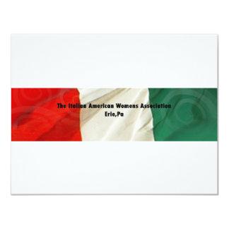 """La asociación de las mujeres americanas italianas invitación 4.25"""" x 5.5"""""""