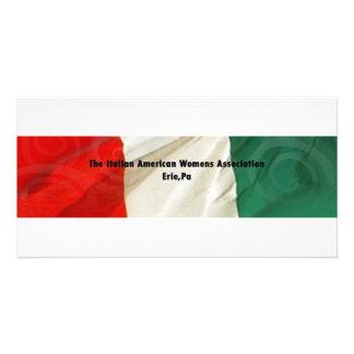 La asociación de las mujeres americanas italianas tarjetas fotográficas