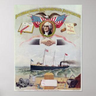 La asociación de los obreros portuarios internacio póster