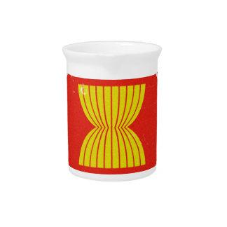 la Asociación de Naciones del c sureste Asiático Jarra De Beber