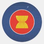 la Asociación de Naciones del c@sureste Asiático Pegatina Redonda