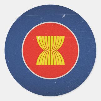 la Asociación de Naciones del c@sureste Asiático Etiquetas Redondas