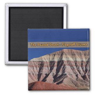 La asta de bandera pintada Arizona del desierto Imán Cuadrado