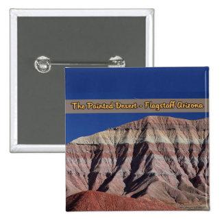 La asta de bandera pintada Arizona del desierto Pin Cuadrado