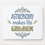 La ASTRONOMÍA es de oro Alfombrillas De Ratones