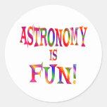 La astronomía es diversión etiqueta redonda