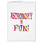 La astronomía es diversión felicitaciones